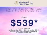 Fly to Europe and more from SGD 539! from Saudi Arabian Airlines