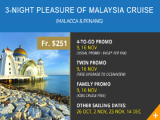 10th Year Anni: 3-Night Pleasure of Malaysia Cruise from Stamford Discovery Cruise Center