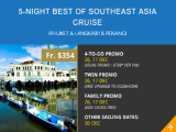 10th Year Anni: 5-Night Best of Southeast Asia Cruise Phuket-Langkawi-Penang from Stamford Discovery Cruise Center