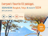 Flight+Hotel Package from SGD224 via Zuji from ZUJI