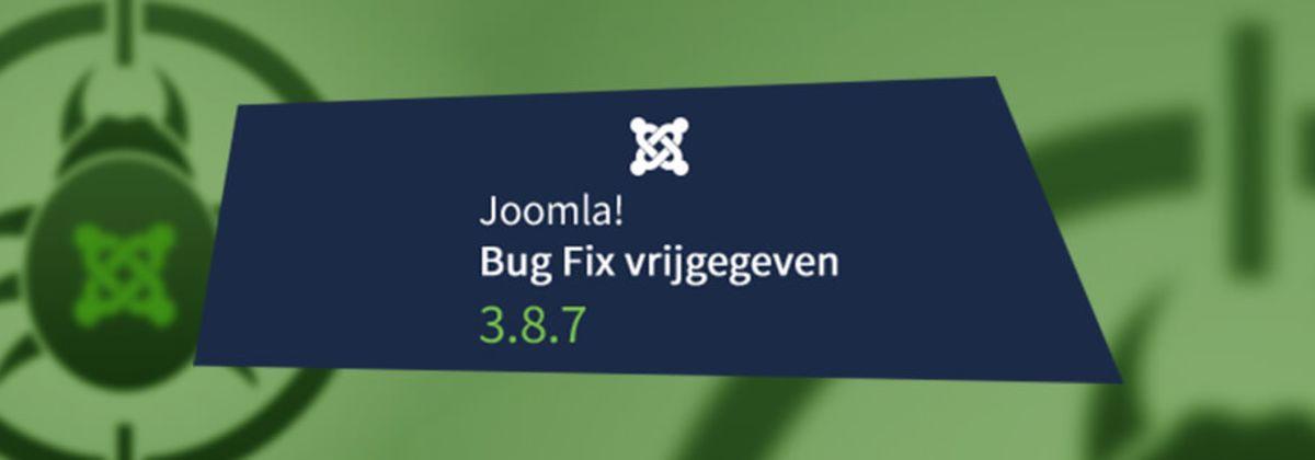 Joomla 3.8.7 Bug Fix release vrijgegeven