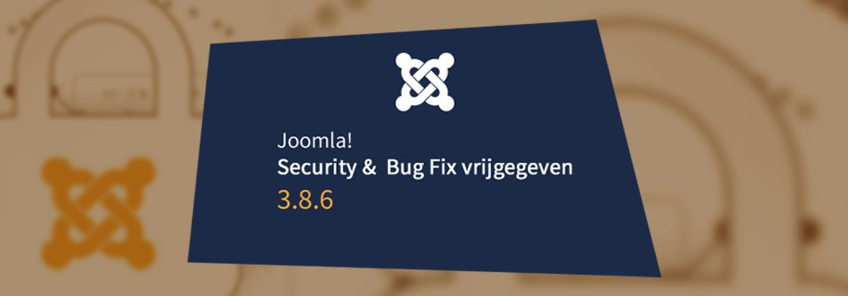 Joomla 3.8.6 security & bug fix release vrijgegeven