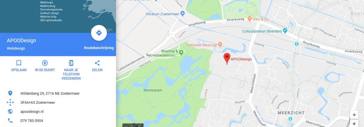 Je bedrijf op Google maps