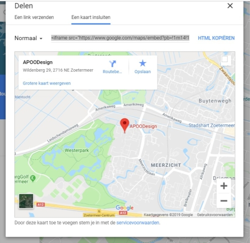 Google-maps-iframe-integreren