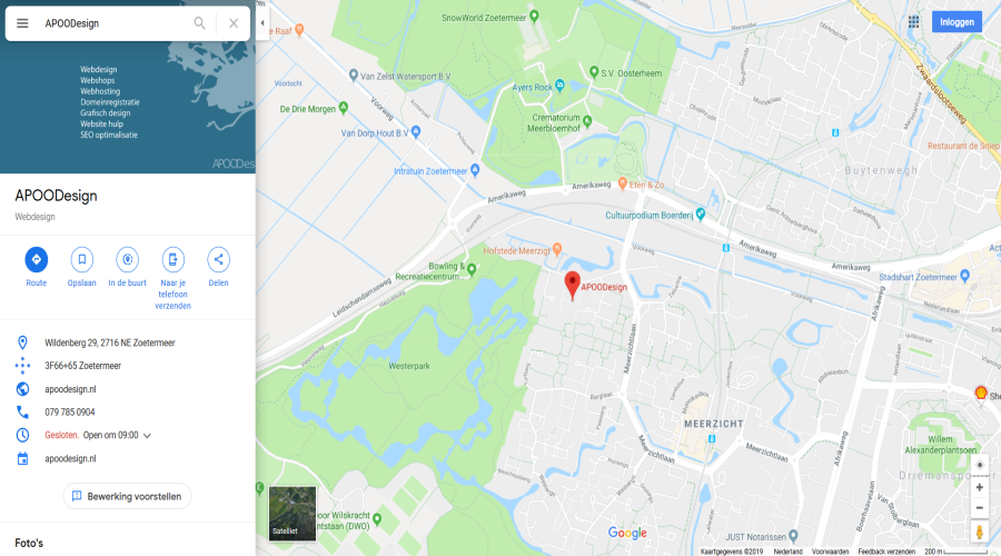 Google Maps van APOODesign