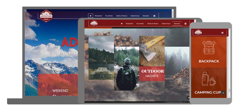 Adventure een U-Page One website