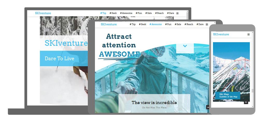 SKIventure een U-Page One website
