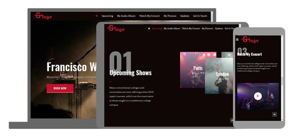 Stage een U-Page One website