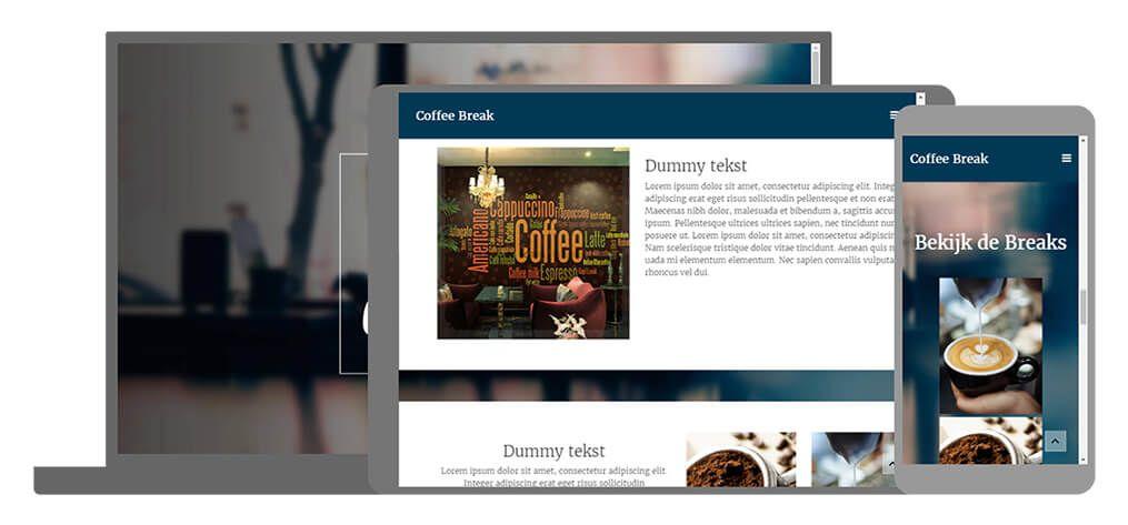 COFFEE BREAK een U-Page One website