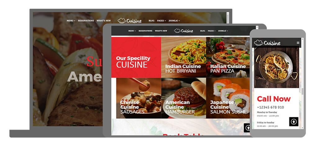 Cuisine U-Page Two website