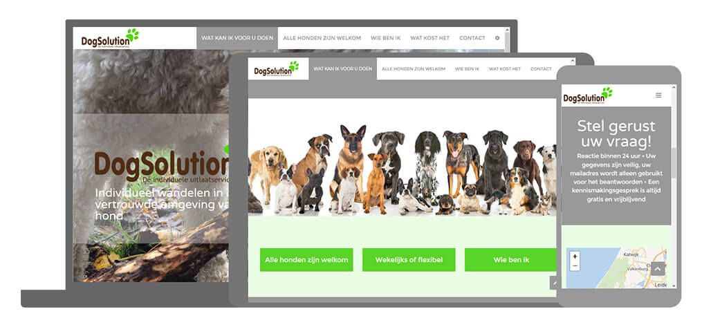 Dogsolution een U-Page One website