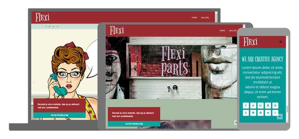 Flexi een U-Page One website