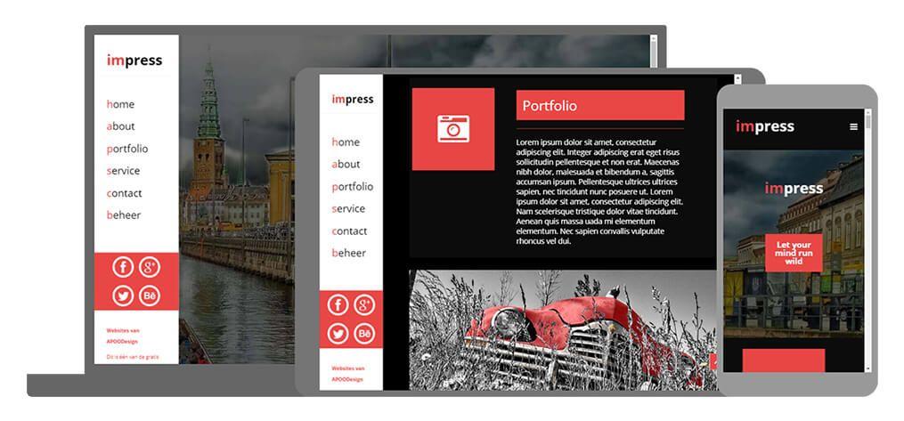 Impress een U-Page One website