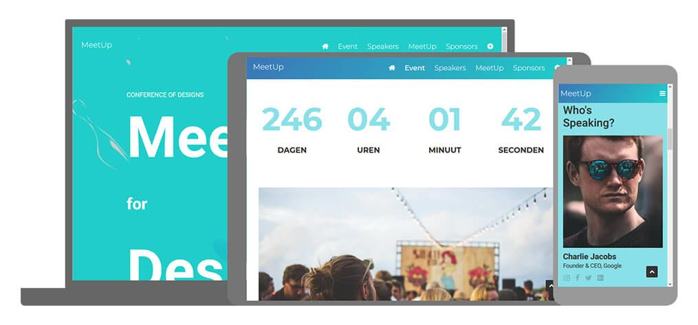 Meet Up een U-Page One website