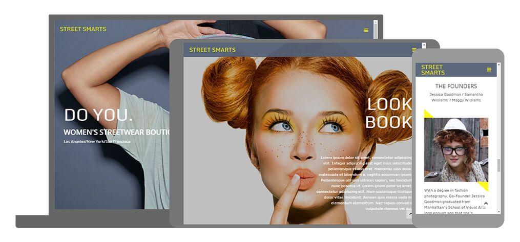 STREET SMART een U-Page One website