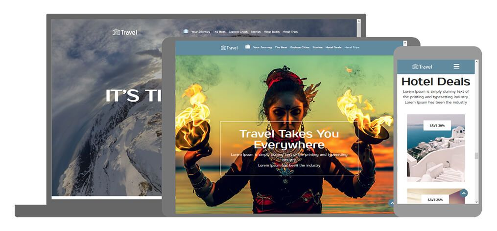 Travel een U-Page One website