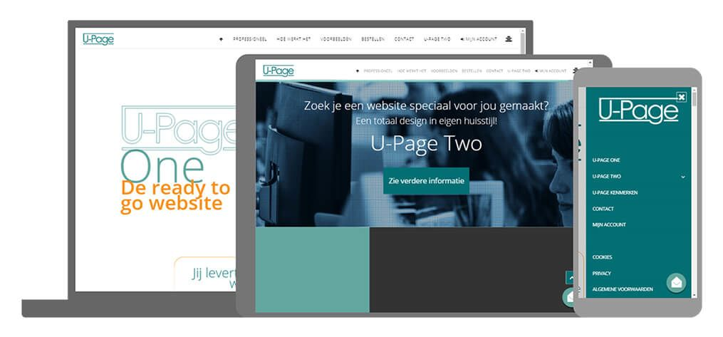 U Page Two producten website