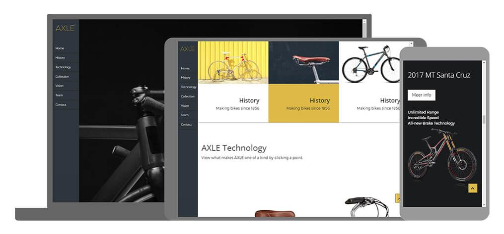 Axle U-Page One website template