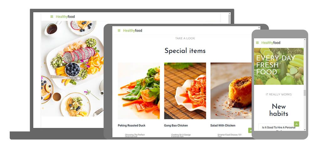 Healthy Food U-page One website template