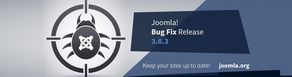 Joomla 3.8.3 release vrijgegeven