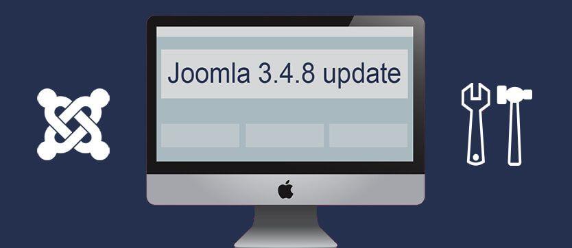 Joomla 3.4.8 update