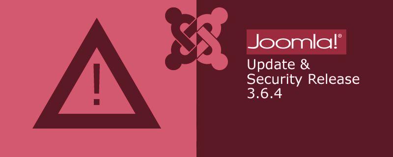 Joomla 3.6.4 is vrijgegeven