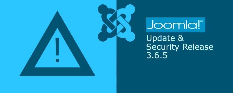 Joomla 3.6.5 is vrijgegeven