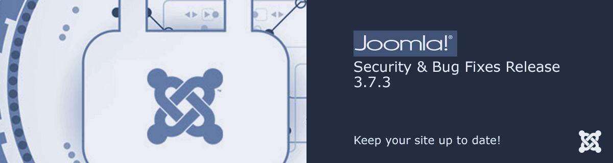Joomla! 3.7.3 is vrijgegeven (een beveiligingsupdate)