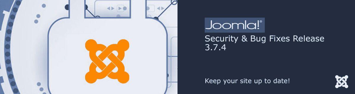 Joomla! 3.7.4 update is vrijgegeven