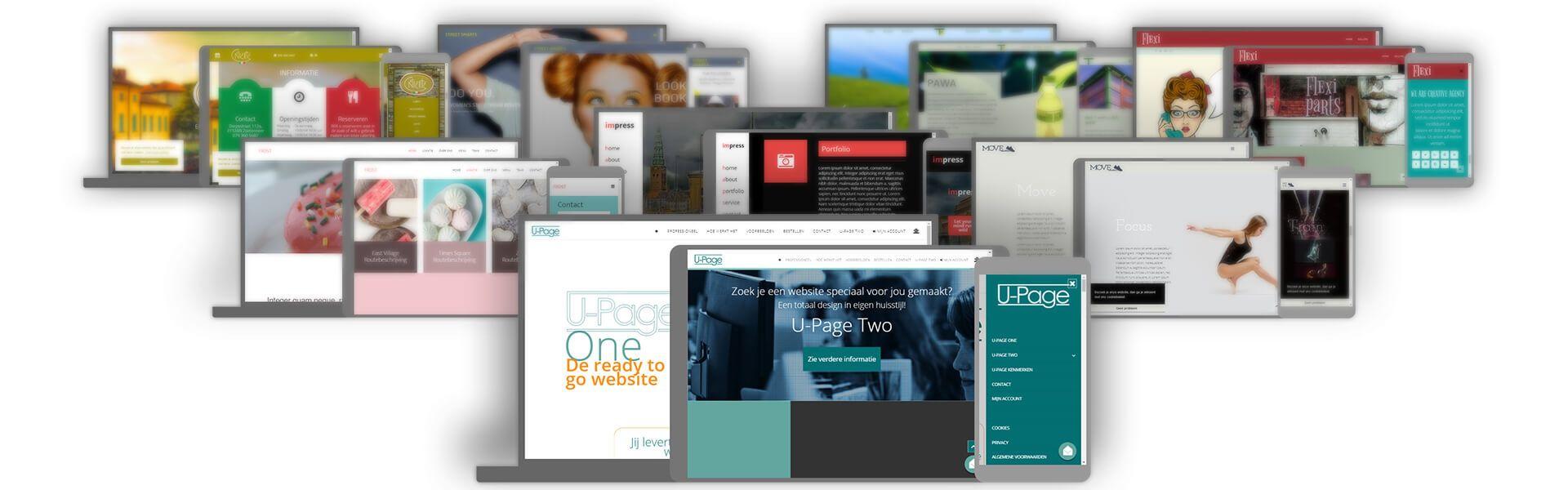 U-Page Website voorbeelden