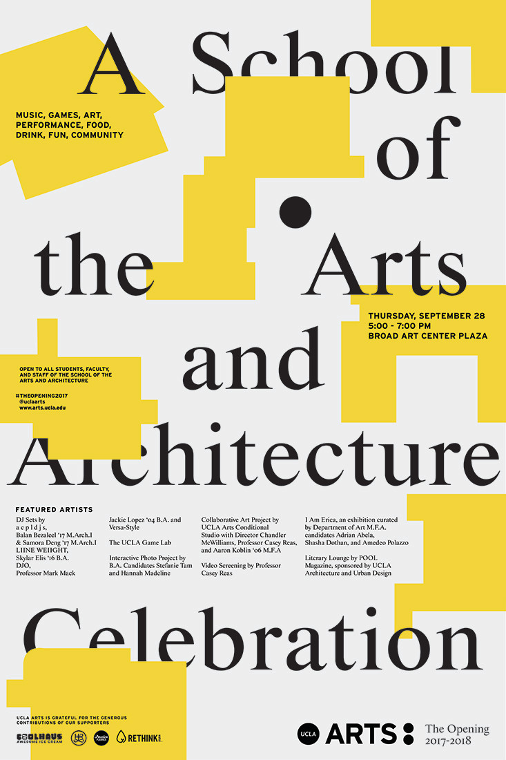 UCLA School Of The Arts And Architecture Use All Five Branding - Ucla arts and architecture