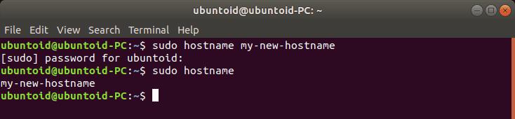 Hostname - Ubuntu Hostname Temporary