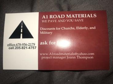 A1 Road Materials