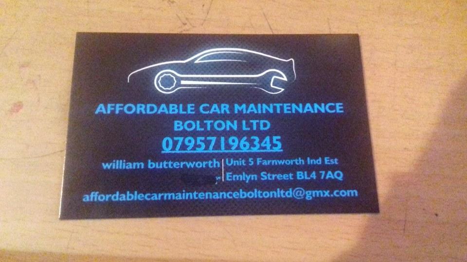 Affordable Car Maintenance Bolton LTD