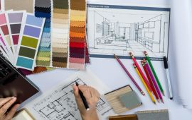 What is the best layout for a interior designer website?