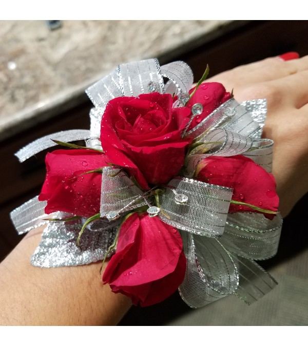 Dazzle Me With Rubies Corsage
