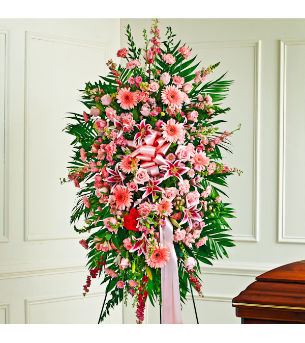 ALL PINK FLOWERS STANDING SPRAY