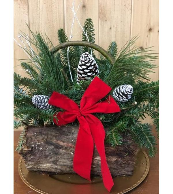 Holiday Log Basket