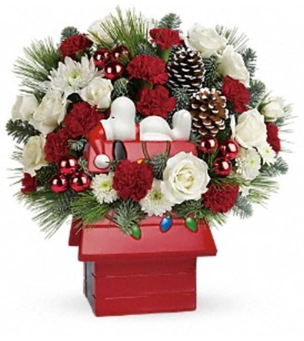 Snoopy Cookie Jar Bouquet