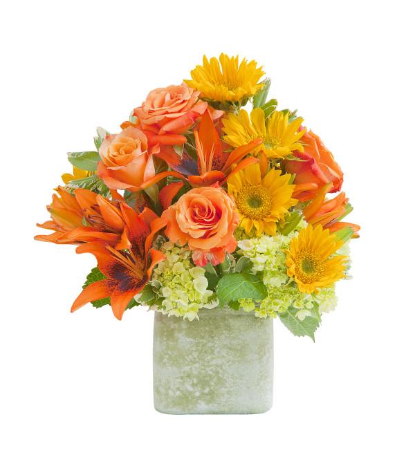 Heaven's Sunset Textured Vase