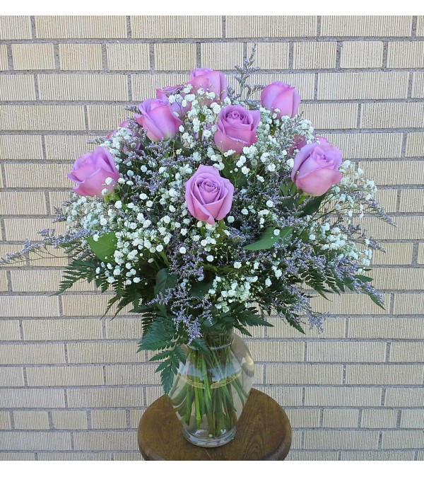 Simply Lavender Rose Vase