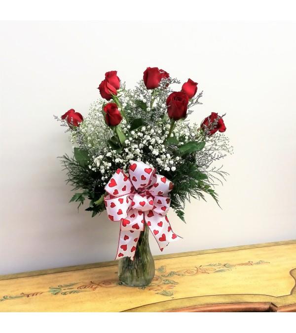 Classic Dozen Medium Stem Rose Vase