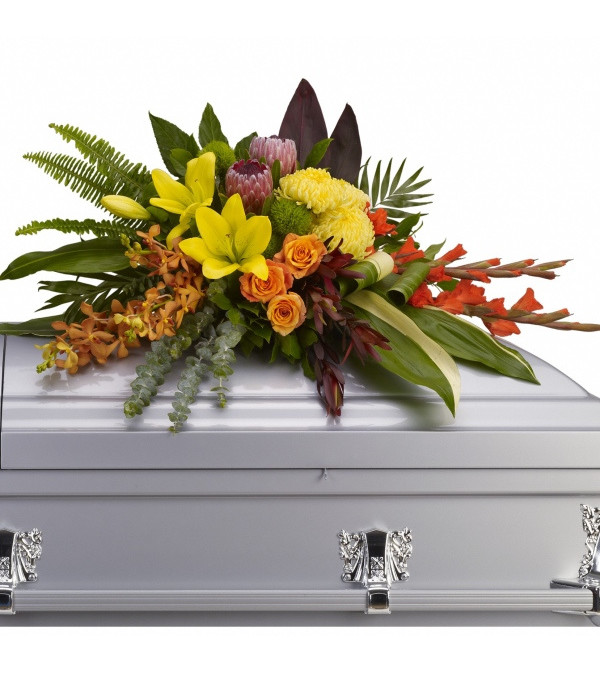 Memories of The Islands Casket Spray