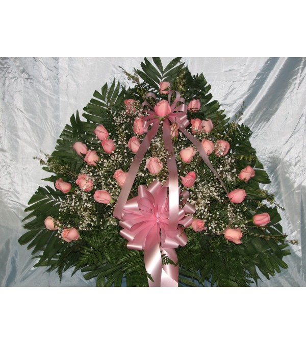Pink Rose Floor Basket