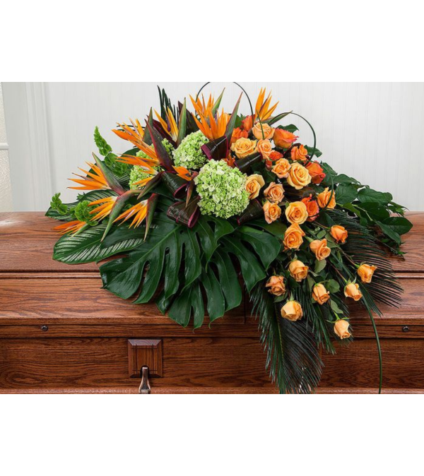 Birds of Paradise Casket Spray - Riverside, CA Florist