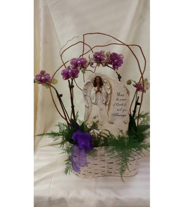 Luxury Orchids and Memorial Plaque