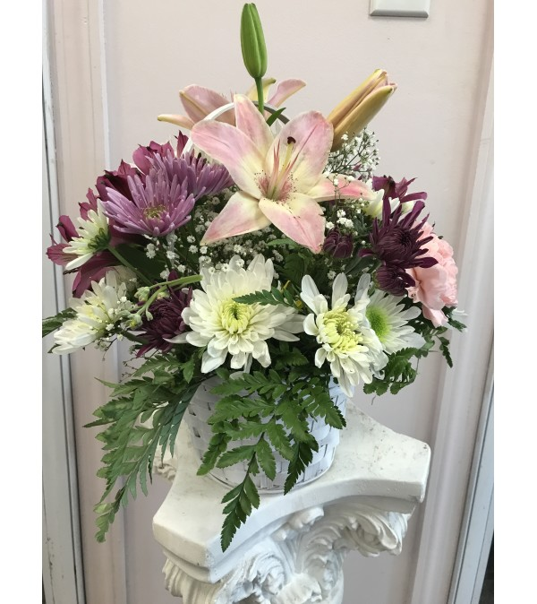 Mixed Flowers with Lilies
