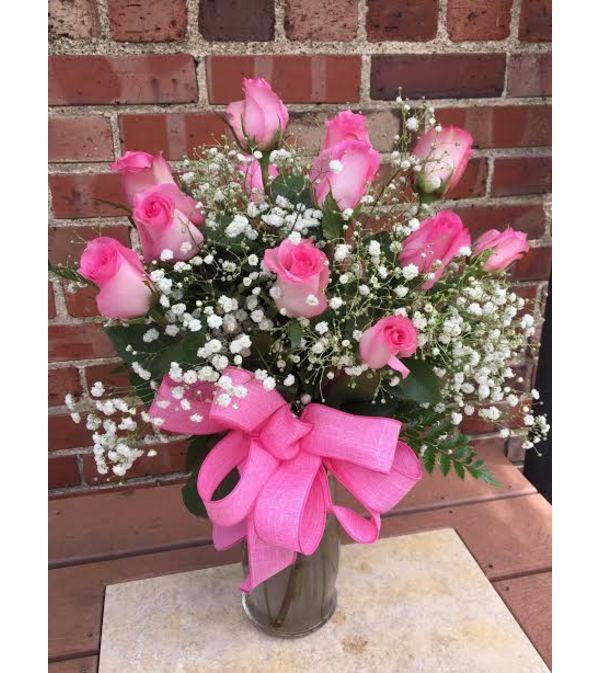 Dozen Roses -Pink