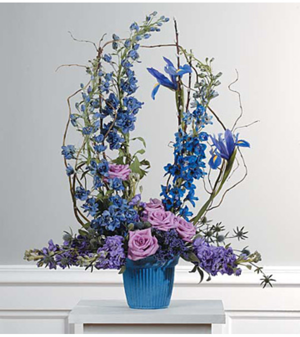 Lavender and Blue Mache Arrangement SF23-21