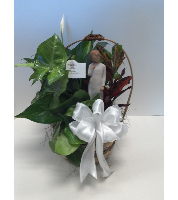 "7"" PLANTER WITH A WILLOW TREE ANGEL"